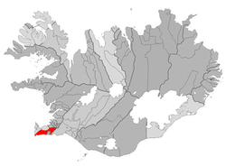 Location of the Municipality of Grindavík