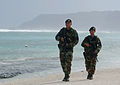 Guam Air National Guard airmen patrol beach 2006.jpg