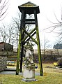 GuentherZ 2011-03-19 0027 Wollmersdorf Statue Johannes Nepomuk Glockenturm.jpg