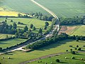 Guided busway at Oakington from a hot-air balloon - geograph.org.uk - 1876439.jpg