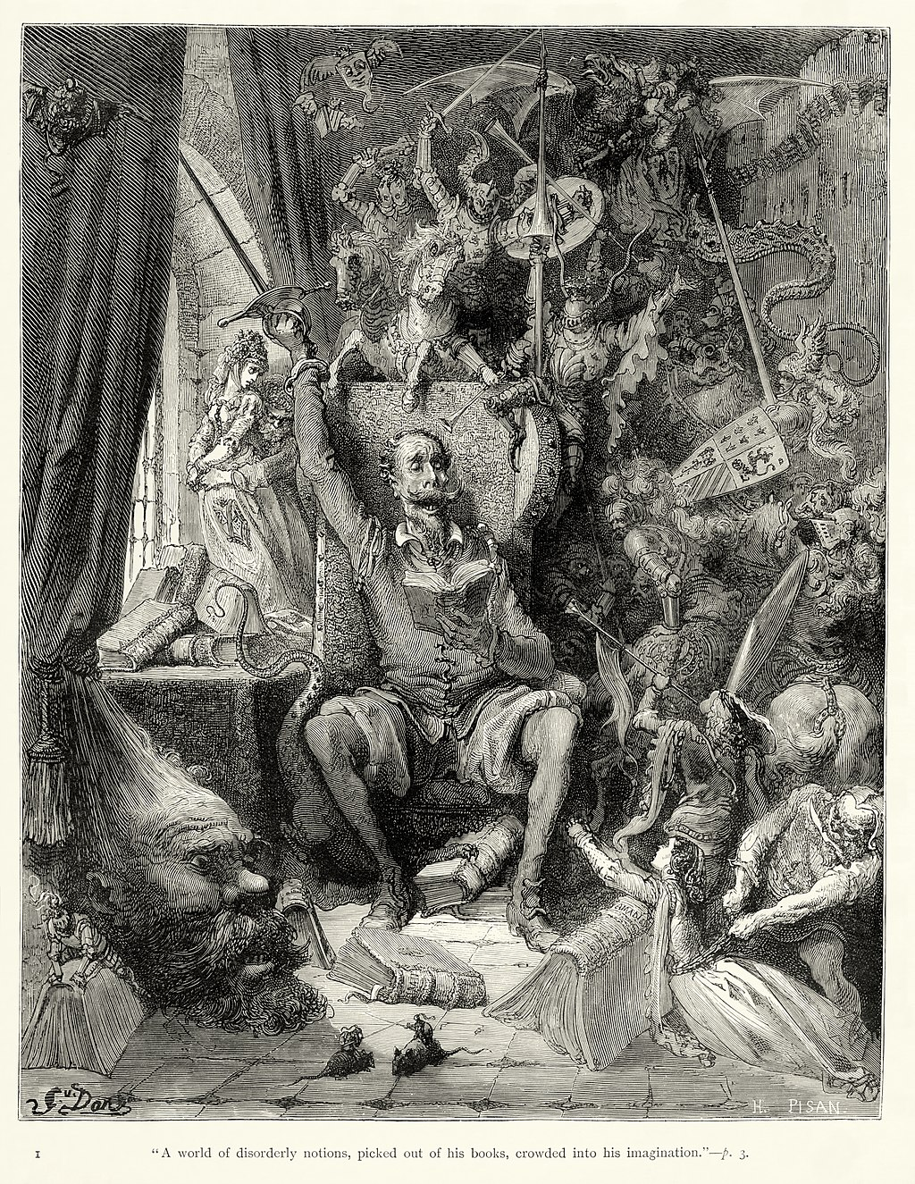 Gustave Doré interpreta Don Quijote
