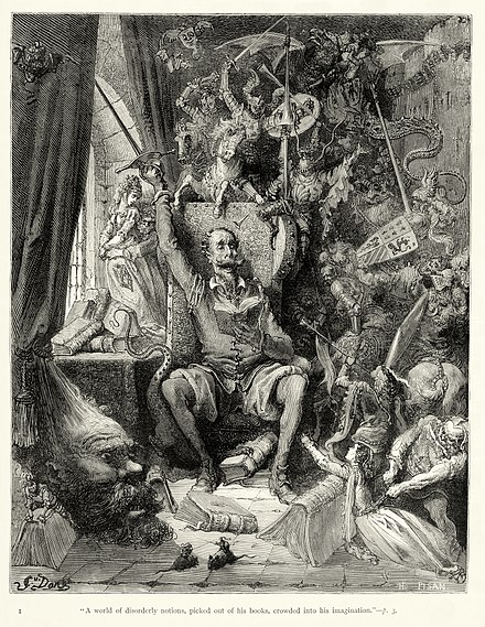 Gustave Doré's first (of about 370) illustrations for Don Quixote - Miguel de Cervantes