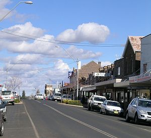 Guyra, New South Wales - Main street of Guyra