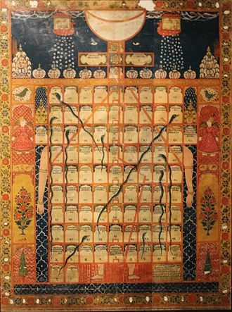 Snakes and Ladders - Gyan Chaupar (Jain version of the game), National Museum, New Delhi