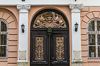 Gyulai Pál 13. bejárata - korábban Gottgeb Antal lakóháza (1872), ma a Magyar Kulturális Alap Igazgatósága.jpg