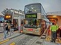 HK 觀塘碼頭巴士總站 Kwun Tong Ferry Bus Terminus Wai Yip Street n Bypass KMBus 268C stop Dec-2013 evening.JPG