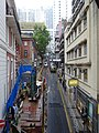 HK Central Old Bailey Street 舊中區警署 Central Police Station Jan-2016 Central-Mid-Levels escalators view.JPG