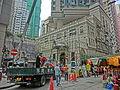 HK Wan Chai 太原街 Tai Yuen Street 囍匯 The Avenue phase I construction site lorry car Nov-2013 market.JPG