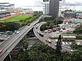 HK Wan Chai 尚匯 The Gloucester view Marsh Road bridge flyover March 2016 DSC.JPG