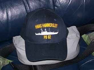 Sea Patrol - A prop baseball cap from the fictional ''Armidale'' class HMAS Hammersley