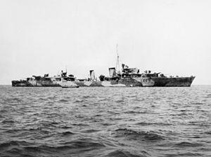 HMAS Warramunga (I44) - Warramunga in 1944.