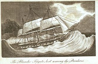 HMS Amfitrite (1804) - Image: HMS Blanche wrecked