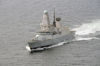 Missile defense systems by country - HMS Diamond (D34) a Royal Navy Type 45 destroyer equipped with the Sylver A-50 VLS and Aster 15 and 30 missiles. Diamond fired her missiles for the first time during May 2012 successfully intercepting a Mirach drone.