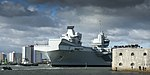 HMS QUEEN ELIZABETH LEAVES PORTSMOUTH FOR HELICOPTER TRIALS MOD 45163790.jpg
