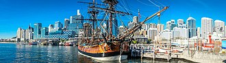HM Bark Endeavour Replica - The Endeavour replica at Australian National Maritime Museum 2013
