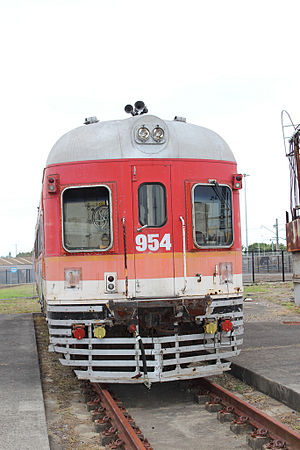 Far West Express - DEB set carriage at Broadmeadow Locomotive Depot in December 2012