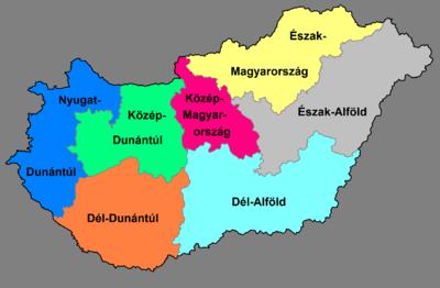 magyarország régiói térkép Magyarország régiói – Wikipédia magyarország régiói térkép
