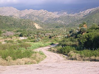 Comechingón - View of the Comechingones Mountains.