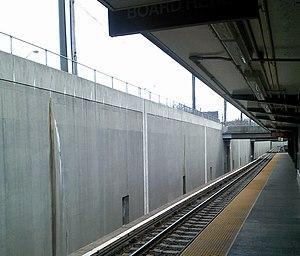 Haddonfield station - PATCO platform at Haddonfield Station in 2012