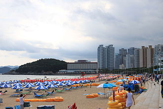 Tourism in South Korea - Haeundae Beach in Busan