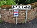 Hall Lane signs - geograph.org.uk - 1326198.jpg