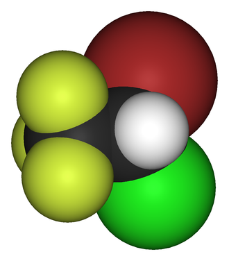 Halothane - Image: Halothane 3D vd W
