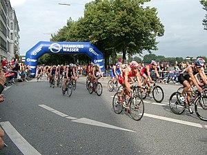 Deutsch: Hamburg City Man Triathlon 2007.