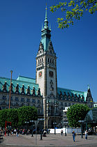 Hamburg town hall tower