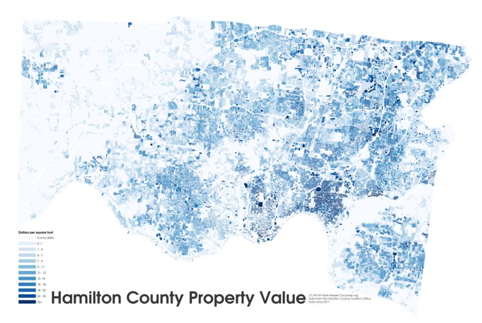 Hamilton county ohio property value 2011