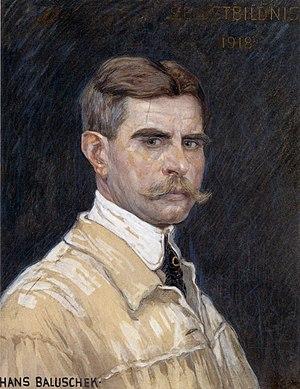 Hans Baluschek - Self-portrait, 1918