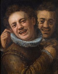 Hans von Aachen - Two Laughing Men (Self-portrait).jpg