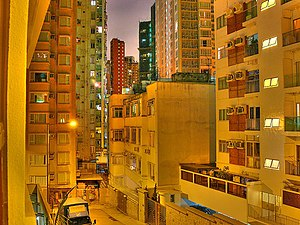 Culture of Hong Kong - Happy Valley apartment blocks