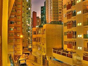 Culture of Hong Kong - Happy Valley apartment blocks