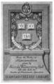 Harvard University Detur Neumismatic.png