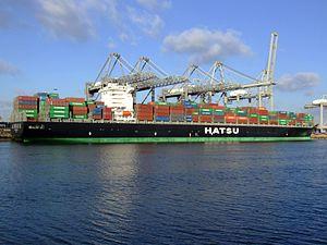 Hatsu Crystal p5, at the Amazone harbour, Port of Rotterdam, Holland 25-Jan-2007.jpg