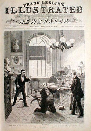 "William Frederick Havemeyer - The death of William Havemeyer, originally appearing as ""Sudden Death of the Hon. William F. Havemeyer in his Office,"" New York, NY, Frank Leslie's Illustrated Newspaper, December 1874)"