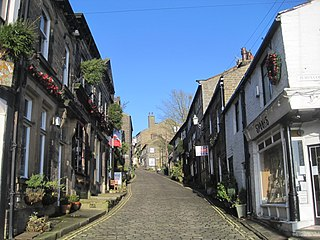 Haworth Village in West Yorkshire, England