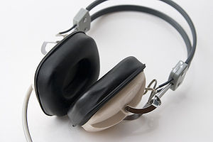Headphones - Circumaural headphones have large pads that surround the outer ear.