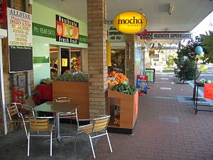 Heathcote, New South Wales -  Shops on Princes Highway