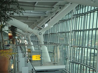 Skytrax - Image: Heathrow t 5 front facade inside