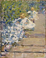 """Helen Galloway McNicoll - Sketch for """"Picking Flowers"""" - Google Art Project.jpg"""