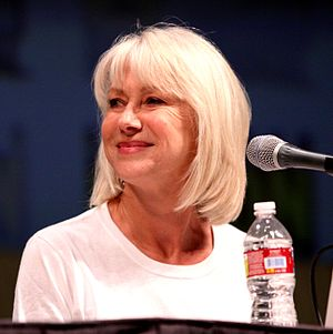 English: Actress Helen Mirren on the Red panel...