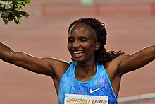 Hellen Obiri during the 2017 Golden Gala, Rome