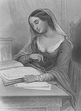 Héloïse - Héloïse imagined in a mid-19th-century engraving