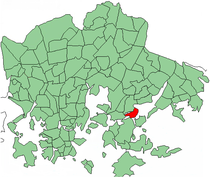 Position of Tammisalo within Helsinki