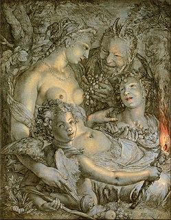 Sine Cerere et Baccho friget Venus Latin phrase and artistic theme