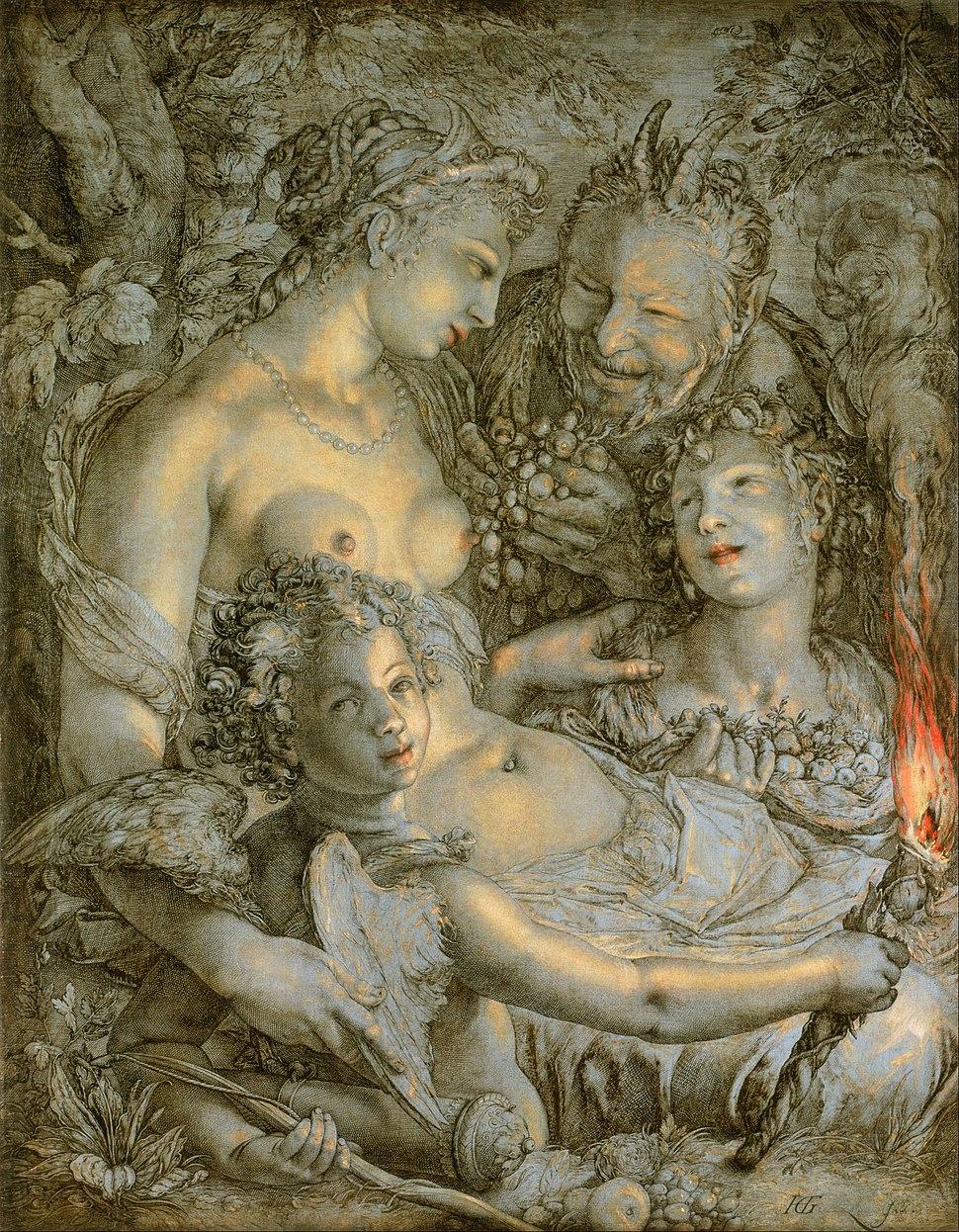 Hendrick Goltzius, Dutch (active Haarlem) - Sine Cerere et Libero friget Venus (Without Ceres and Bacchus, Venus Would Freeze) - Google Art Project