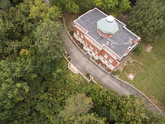 Hanover College - Aerial view of Hendricks Hall