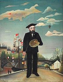 rousseau, myself, portrait, landscape, 1890, self-portrait, painter