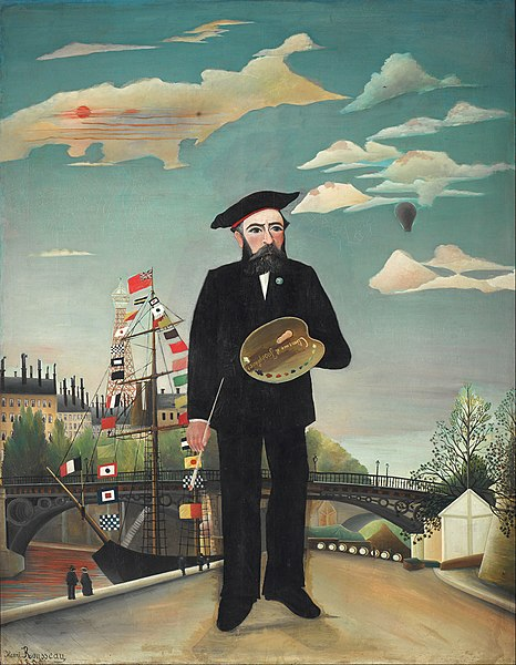 Archivo:Henri Rousseau - Myself- Portrait – Landscape - Google Art Project.jpg